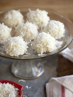 Coconut Snowball Cookies by foodiecrush #Cookies #Coconut
