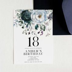 image 0 Forty Birthday, Gold Birthday, Teen Birthday, 18th Birthday Invites, Printable Birthday Invitations, Gold Invitations, 18th Debut Theme, Debut Themes, Debut Invitation 18th