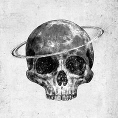 Cosmic Skull Art Print by Terry Fan