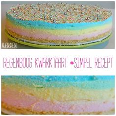 Sweets Cake, Cupcake Cakes, Cake Pops Recept, Rainbow Cheesecake, Baking With Kids, Sweet Pie, Happy Foods, Party Cakes, Cake Cookies