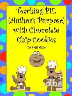"""If you are looking for a fun way to teach your students about """"author's purpose"""", you just found it!  I have provided 3 different yummy writing activities (one for each purpose: to persuade, to inform, and to entertain) using 3 different genres for writing (letter, how to, and journal)."""