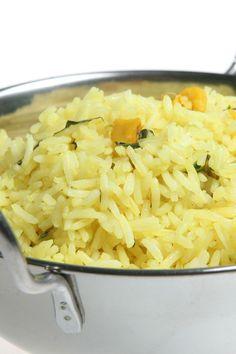 Course(s): Side; Ingredients: chicken broth, dried basil, lemon juice, lemon zest, long-grain rice, margarine, seasoning , water
