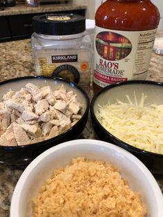 Keto Low carb chicken parmesan dinner recipe pork rinds