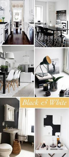 Decorate your home in chic black and white accents. www.theglitterguide.com