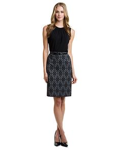 Some of you have to get in on this: Tahari ASL Grey & Black Textured Pencil Skirt