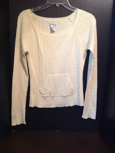 Aeropostale Yellow Sweater Front Hoodie Style Pocket Large