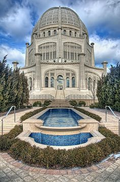 ✮ The Baha'i Temple in Wilmette, Illinois - You really must enlarge this and enjoy! Just outside Chicago!