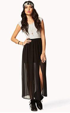 e308f521d43 Forever 21 - Black Cutout M-Slit Maxi Dress - Lyst