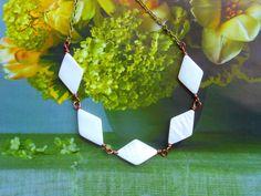 Geometric Silhouette NecklaceMother Of by gaureya on Etsy Copper Cuff, Copper Bracelet, Copper Jewelry, Cuff Bracelets, Art Deco Necklace, Wedding Jewellery Gifts, Geometric Necklace, Geometric Lines, Wedding Bracelet