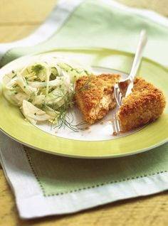 Sundried Tomato and Goat Cheese Croquettes with a Fennel Salad Recipes Goat Cheese Stuffed Chicken, Les Croquettes, Ricardo Recipe, Fennel Salad, Vegetarian Cheese, Salad Recipes, Tapas, Goats, Food And Drink