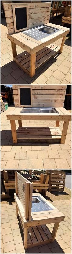 Let's catch with this brilliant piece of designing that is all set out with the sink use of furniture creation in it. It looks so elegant and sophisticated because of the rustic light brown shade using in its whole furnishing. You would love making it part of your house garden location for sure!