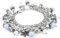 Sparkling Winter Snowflake Bracelet, Holiday Jewelry, Frosty - Blackberry Designs Jewelry