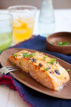 Salmon Recipes, Fish Recipes, Seafood Recipes, Asian Recipes, Cooking Recipes, Fish Dishes, Seafood Dishes, Enjoy Your Meal, Good Food