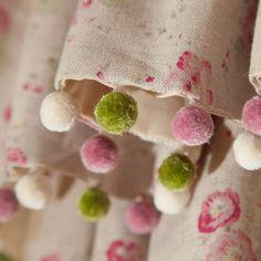 kate forman designs | Bobble Fringe Hand Sewn Handsewn Gathered Base Pelmet