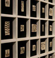 Alfabeto - 2010- 80x80. Impressioni Ceramica By Giovanni Maffucci