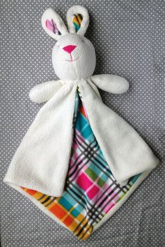 Bunny Lovey Baby Security Blanket | Craftsy