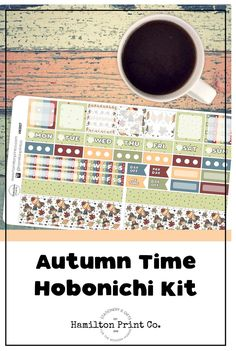 Kawaii Autumn scarecrow sticker kit for your Hobonichi (or Fauxbonichi) Weeks. These stickers are printed on the finest matte paper known to man, and kiss cut so they're good to go straight out of the box! Sticker Storage, Best Planners, Business Planner, Planner Supplies, Hobonichi, Small Shops, Bullet Journals, Fall Pumpkins, Erin Condren