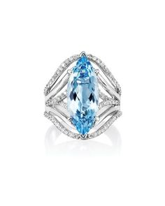 Best Ring Design – $2,501–$10,000 18k white gold, aquamarine and diamond ring by Parlé Jewelry.