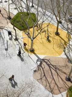 Large granite paving stones alternate with other surfaces in a pentagonal geometric pattern, a part of an integrated urban design and landscape concept that will link the Plaza Santa Bárbara with the neighbouring streets around the future mixed use building in construction http://www.dezeen.com/2013/03/22/contemporary-art-centre-cordoba-by-nieto-sobejano-arquitectos/?utm_source=feedburner&utm_medium=feed&utm_campaign=Feed%3A+dezeen+%28Dezeenfeed%29