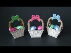 Basket Bunch Favors | Video Tutorial, Basket Bunch Stamp Set, Basket Builder Framelits, Hershey's, Easter, Eggs, Baskets, Stampin' Up, Qbee's Quest, Brenda Quintana