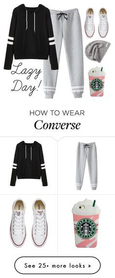 """""""What is your go to outfit on a lazy day?"""" by charlotte-elizabeth-02 on Polyvore featuring Converse"""