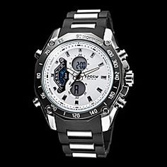 Men's Multi-Functional Analog-Digital Steel Round Dial Abs Band Quartz-Lcd Wrist Watch (Assorted Colors). Get unbeatable discount up to 60% Off at Light in the Boxs with Coupon and Promo Codes.