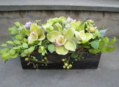 Green Goddess Silk Floral Arrangement by DreamingPhoenix on Etsy