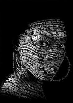 Typography portraits