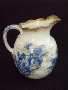 Antique Doulton Transferware Pitcher - 1850-1899