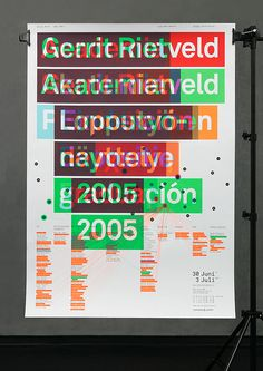 GRA 2005 Poster series for the graduation show, Gerrit Rietveld Academy, Amsterdam 2005