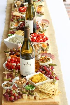 How To Make Antipasto Board Table Runner (Antipasti Platter) - This Is A Simple . - How To Make Antipasto Board Table Runner (Antipasti Platter) – This is a simple tutorial on how t - Snacks Für Party, Appetizers For Party, Appetizer Recipes, Wine Appetizers, Party Canapes, Cheese Appetizers, Easy Snacks, Party Drinks, Yummy Snacks