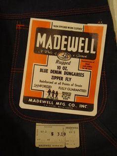 vintage workwear: Madewell Mfg. Co.