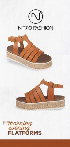 #handmade #leather #flatforms #madeingreece #nitrofashion Handmade Leather, Espadrilles, Sandals, Summer, Shoes, Fashion, Espadrilles Outfit, Moda, Shoes Sandals