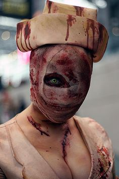 Silent Hill nurse. Probably one of the most intriguing costumes out there, and on my list of what I want to dress as in one of the future Halloweens