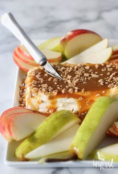 Caramel Apple Cream Cheese Spread | inspiredbycharm.com