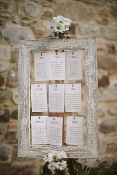 Picture Frames For Seating Plans