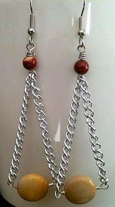 Matching Mookaite Earrings.