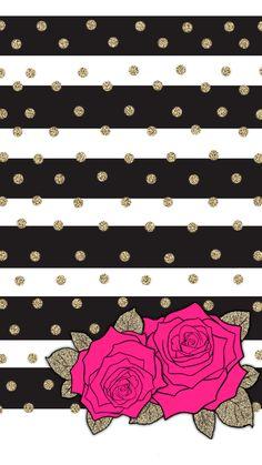 Wallpaper on We Heart It Bow Wallpaper, Flower Phone Wallpaper, Hello Kitty Wallpaper, Wallpaper Iphone Cute, Cellphone Wallpaper, Mobile Wallpaper, Pattern Wallpaper, Wallpaper Wallpapers, Floral Watercolor Background