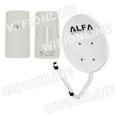 Kit Antena Wifi Parabolica Alfa Network Dish-n + WIS-Q2300