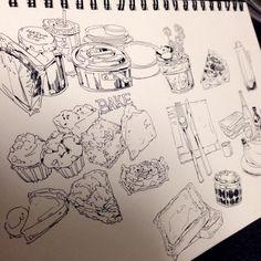 Sketchbook Inspiration, Art Sketchbook, Fountain Pen Drawing, Pen Illustration, Illustrations, Planner Doodles, Ink Pen Drawings, Daily Drawing, Art Reference Poses