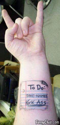 Hmmmm...I was thinking about getting a tat...