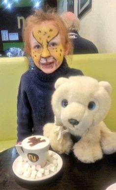 (129) Paul Wheeler's daughter Hannah enjoying her special teddy Bambinochino with her teddy!
