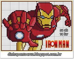 Iron Man pattern by Dinha Ponto Cruz