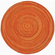 To brighten up the office: Hand-woven Orange Abrush Braided Jute Rug (6' x 6' Round) | Overstock™ Shopping - Great Deals on Acura Homes Round/Oval/Square