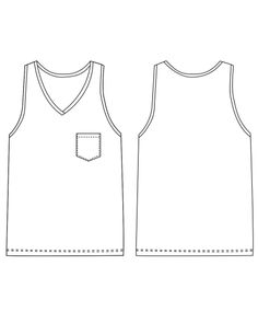 Arrowsmith Undershirt - FREE PDF Pattern for Men's Singlet / Tank-Top / Sleeveless T-Shirt by http://threadtheory.ca/products/arrowsmith