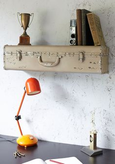 Vintage Suitcase Shelf (Shop ModCloth)… via pinkheelspinktruck.com