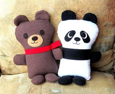 ADORABLE! Panda PDF Sewing Pattern with Teddy Bear by MyFunnyBuddy