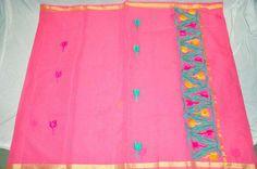 Exclusive Kota Cotton sarees with aari work and running blouse