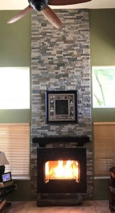 Blog | Airstone Airstone Backsplash, Rustic Room, Stone Walls, Living Room With Fireplace, Fireplaces, Building A House, Kitchen Ideas, Home Improvement, Decorating