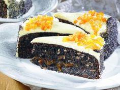 Broskvový dort s citronovou polevou a mákem Poppies, Sweets, Desserts, Food, Lemon, Tailgate Desserts, Deserts, Gummi Candy, Candy